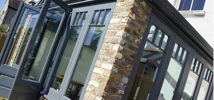 grey brick conservatory